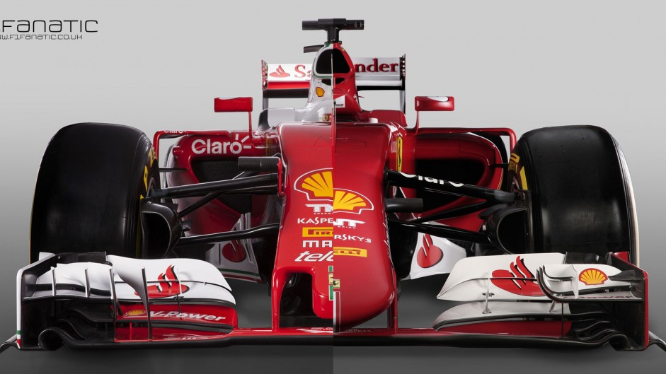 Compare Ferrari's new SF16-H with their 2015 car