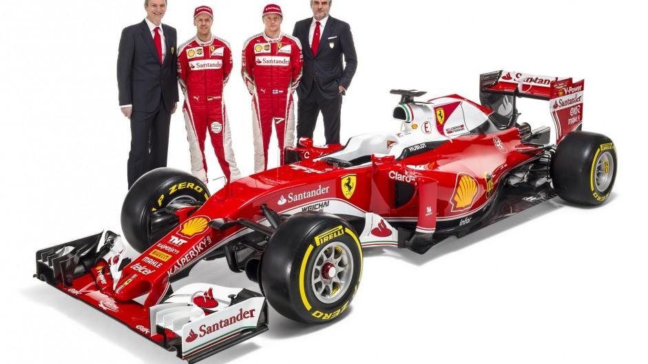 James Allison, Sebastian Vettel, Kimi Raikkonen, Maurizio Arrivabene, Ferrari SF16-H, 2016