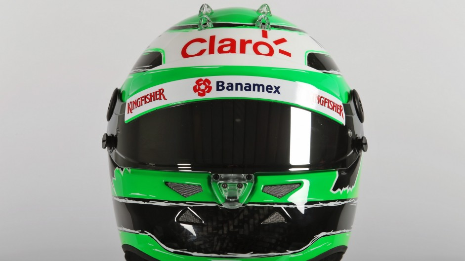 Nico Hulkenberg helmet, Force India, 2016