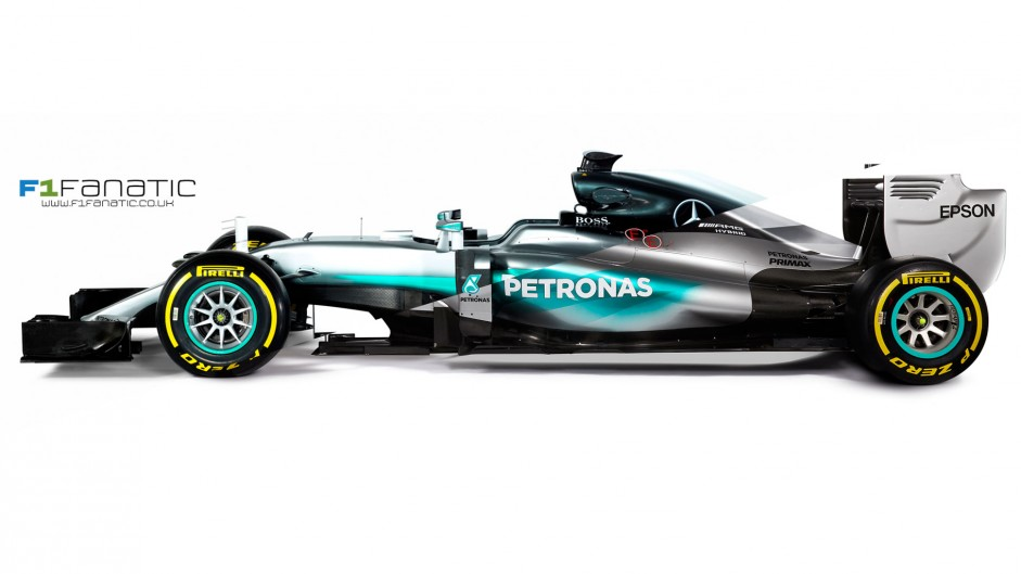 Compare Mercedes' new W07 with their 2015 car