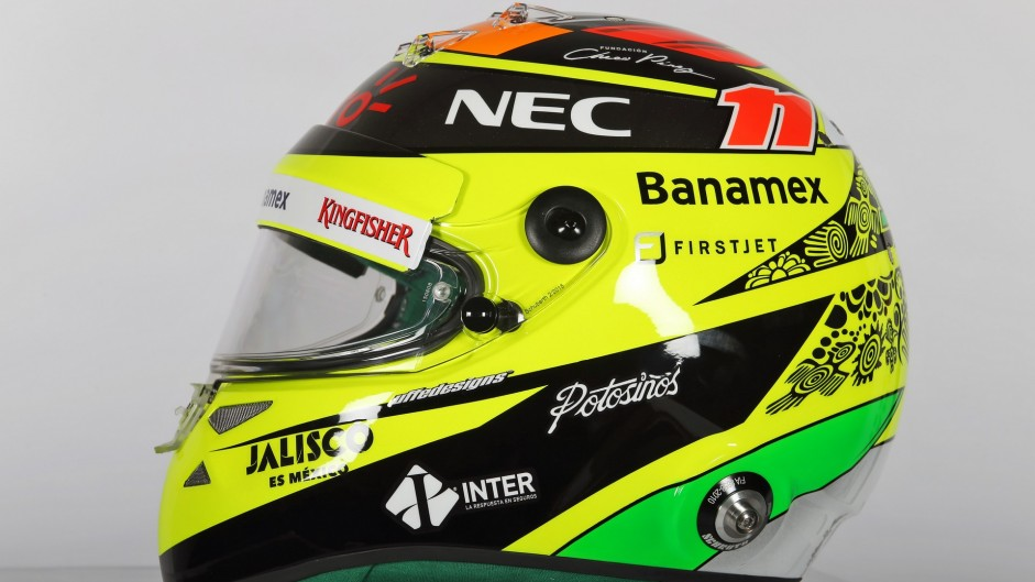 Sergio Perez helmet, Force India, 2016