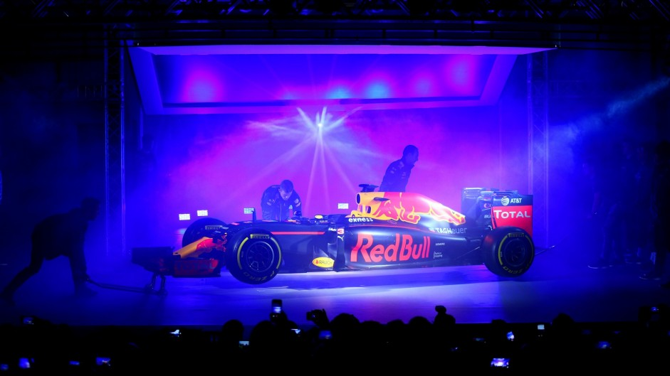 Red Bull unveils new livery for 2016 car