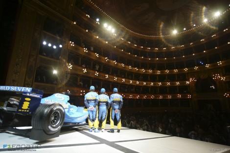 Renault R24 launch, Teatro Massimo, Palermo, Sicily, 2004
