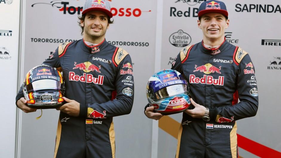 Carlos Sainz Jnr, Max Verstappen, Toro Rosso, Circuit de Catalunya, 2016
