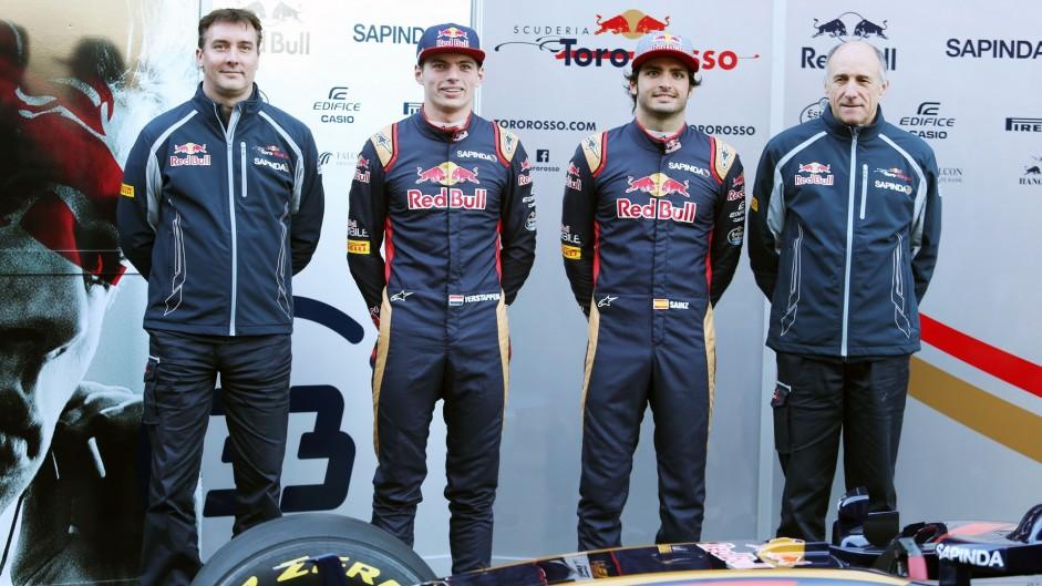 James Key, Carlos Sainz Jnr, Max Verstappen, Franz Tosot, Toro Rosso STR11, 2016
