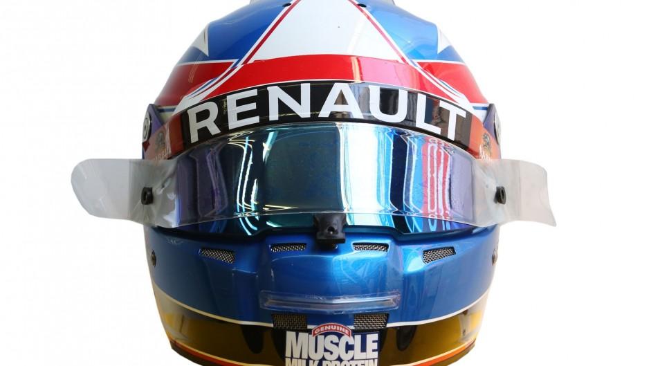 Jolyon Palmer helmet, Renault, 2016
