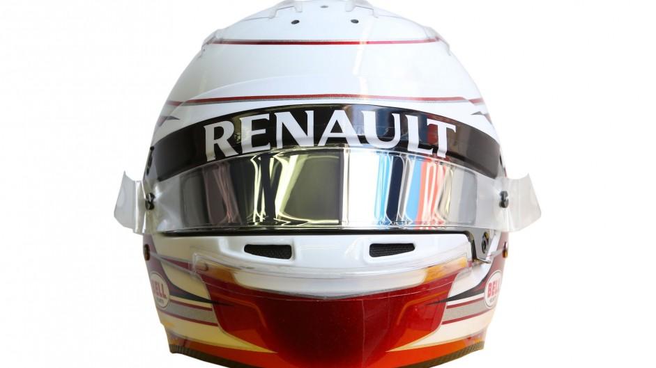 Kevin Magnussen helmet, Renault, 2016