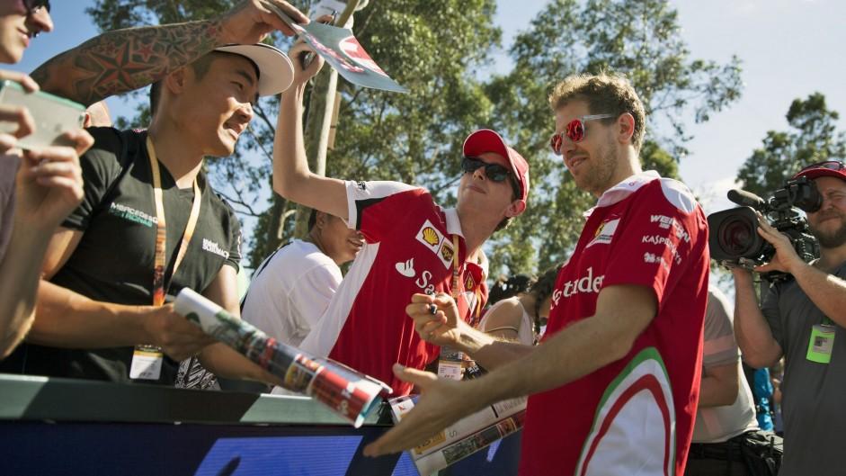 Sebastian Vettel, Ferrari, Albert Park, 2016