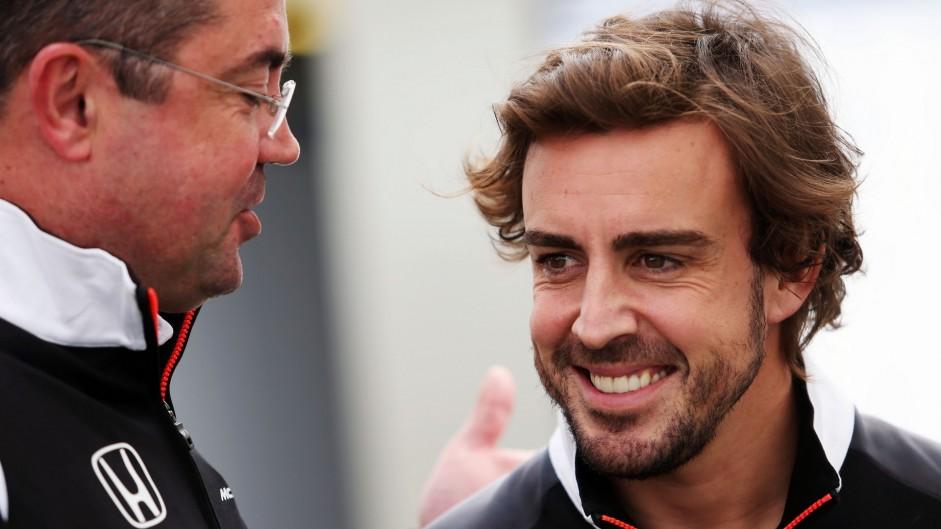 Eric Boullier, Fernando Alonso, McLaren, Albert Park, 2016