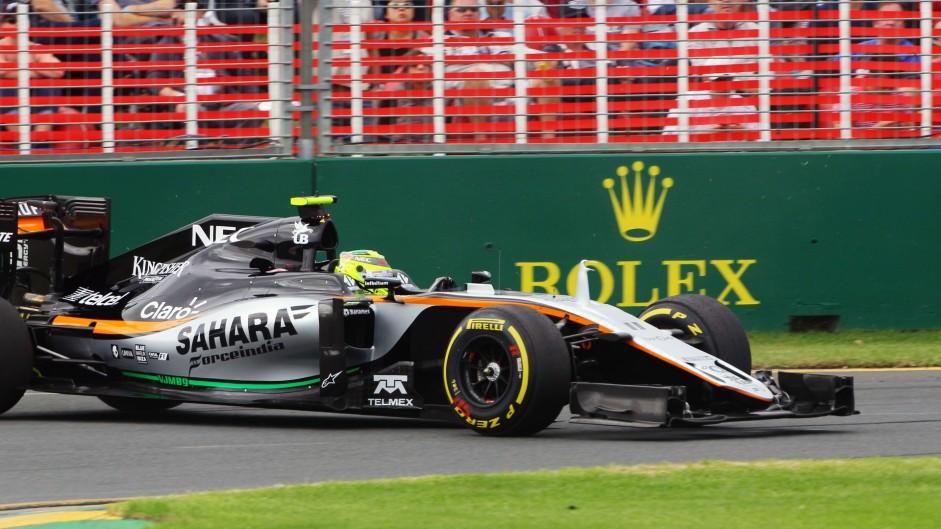 Sergio Perez, Force India, Albert Park, 2016