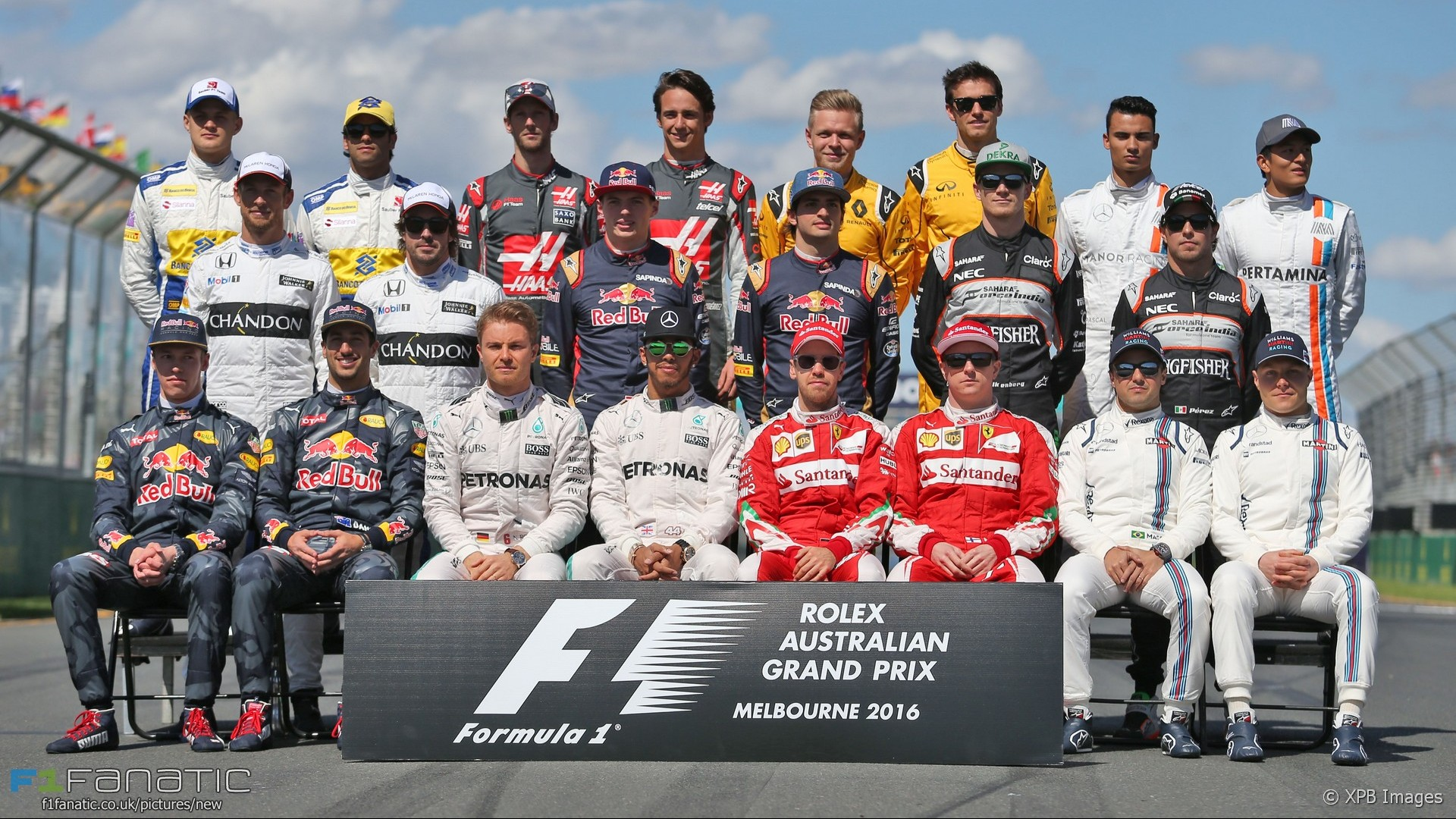 Drivers start-of-season photograph, Albert Park, Melbourne, 2016