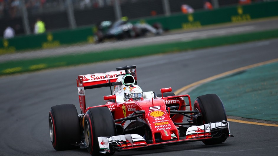 Vettel not blaming Ferrari over red flag tyre call