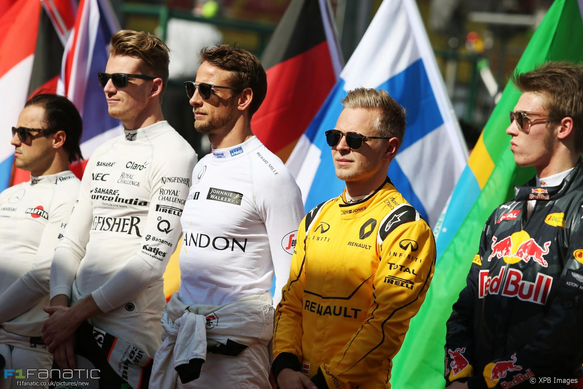Felipe Massa, Nico Hulkenberg, Jenson Button, Kevin Magnussen, Daniil Kvyat, Albert Park, 2016