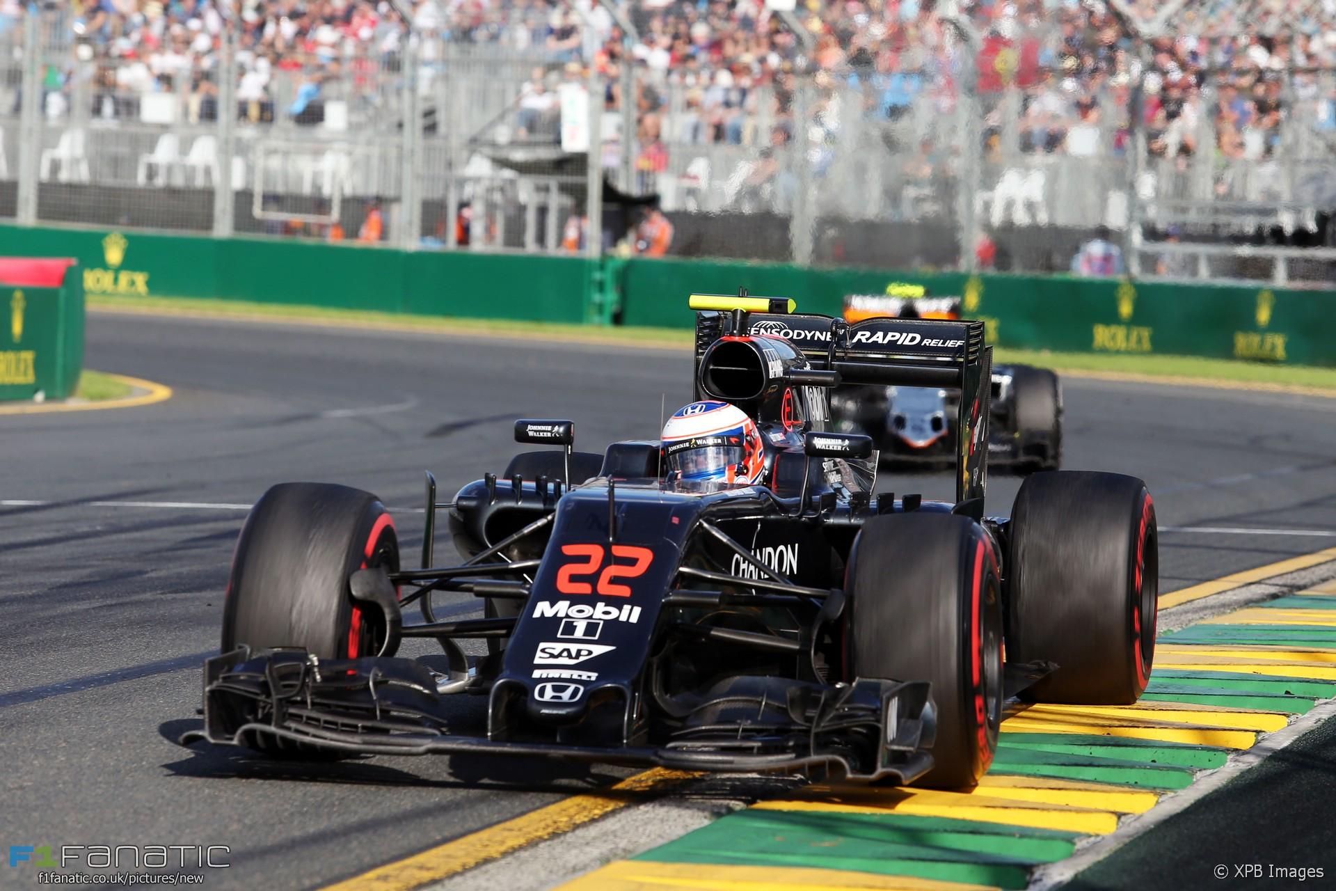 Jenson Button, McLaren, Albert Park, 2016