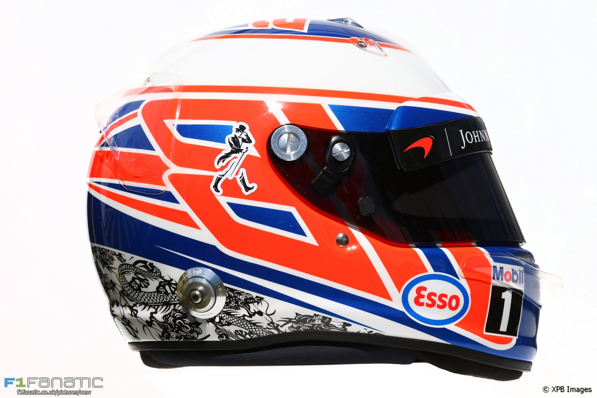Jenson Button helmet, 2016