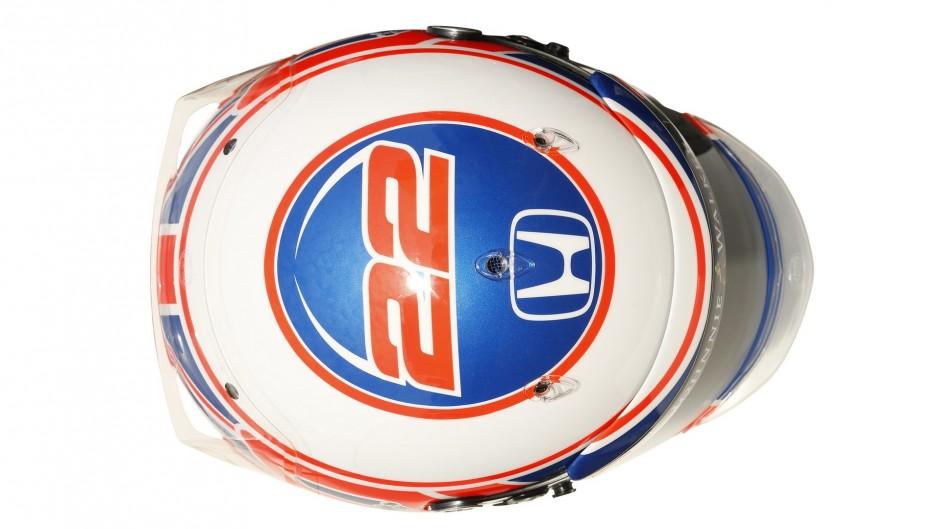Jenson Button helmet, 2016