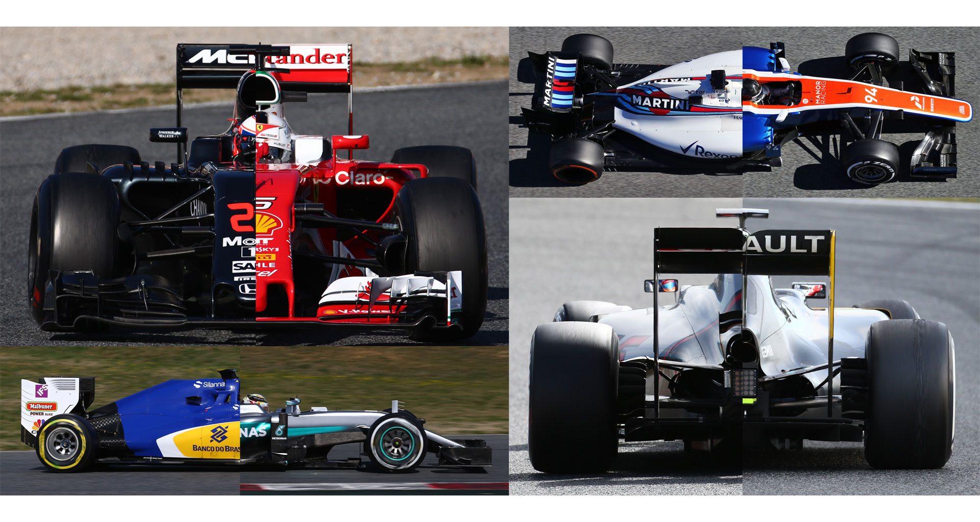 Compare every F1 car of 2016 from every angler