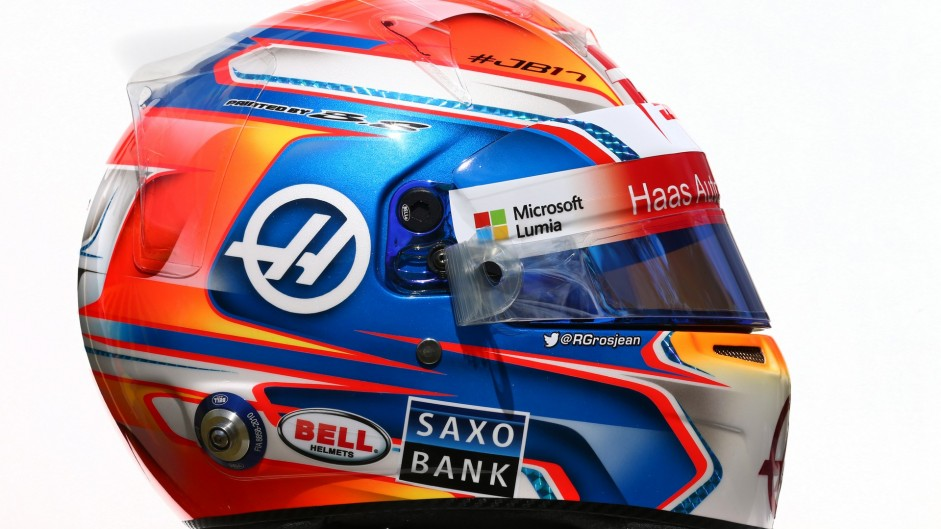 Romain Grosjean helmet, 2016