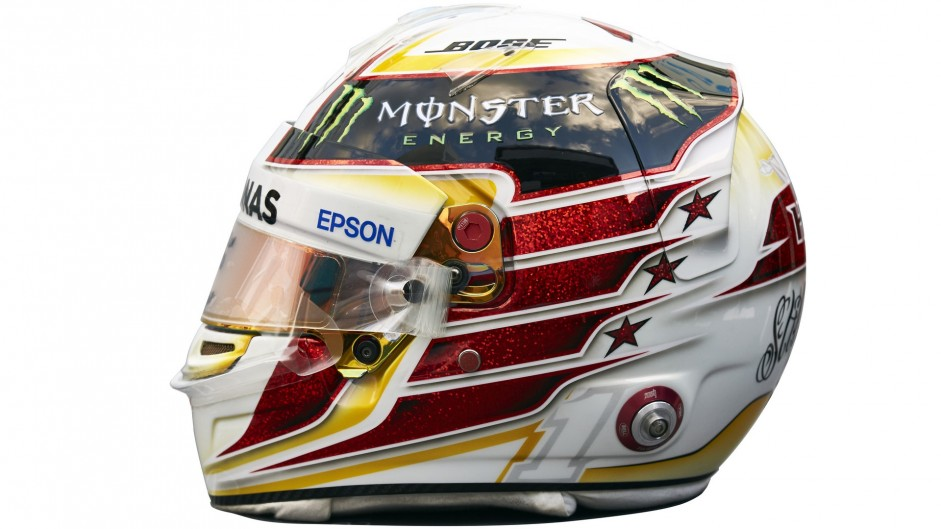 Lewis Hamilton helmet, Mercedes, 2016