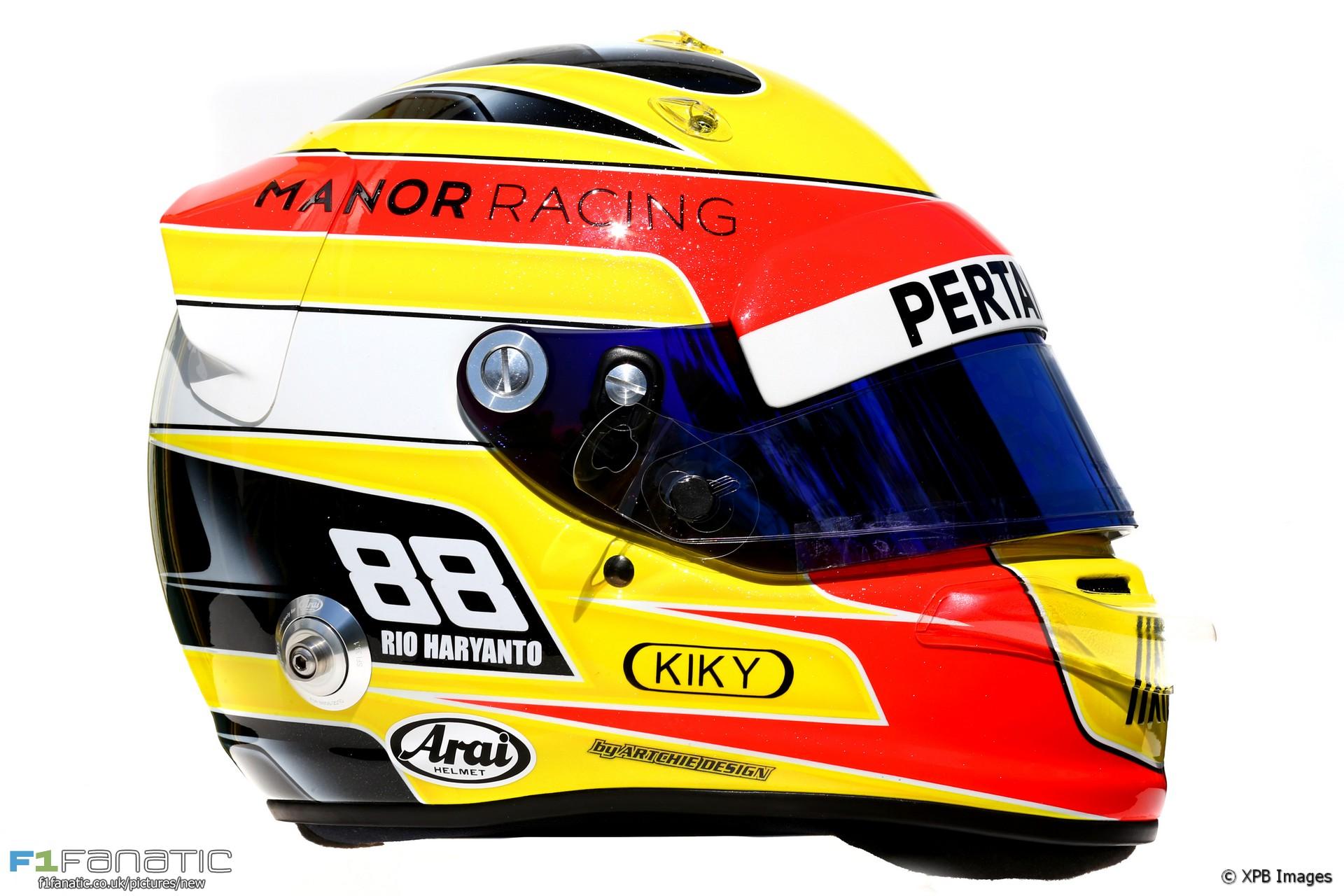 Rio Haryanto helmet, 2016