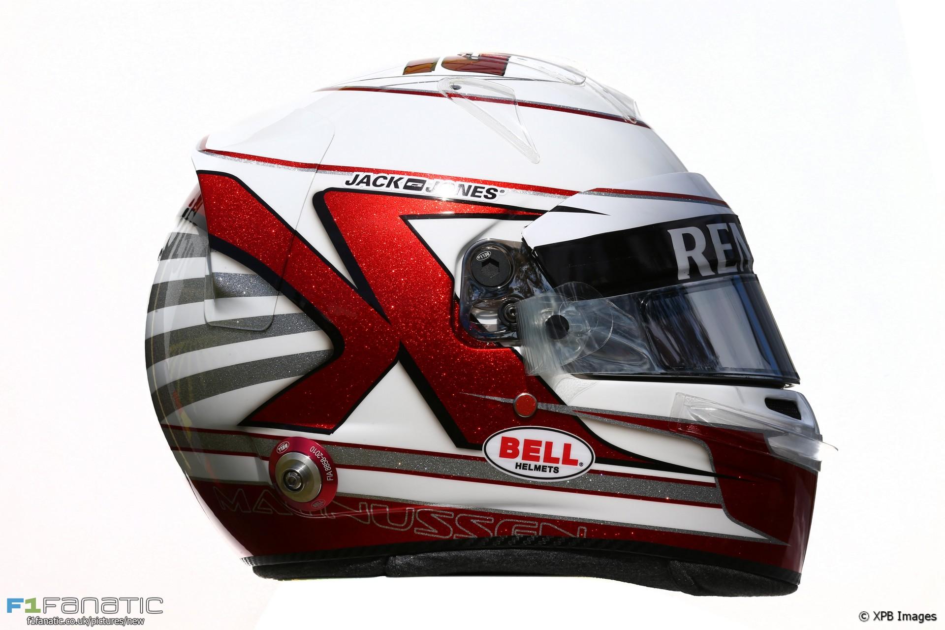 Kevin Magnussen helmet, 2016