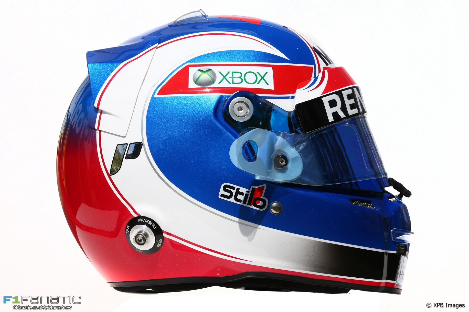 Jolyon Palmer helmet, 2016