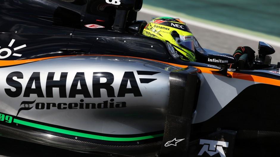 Sergio Perez, Force India, Circuit de Catalunya, 2016