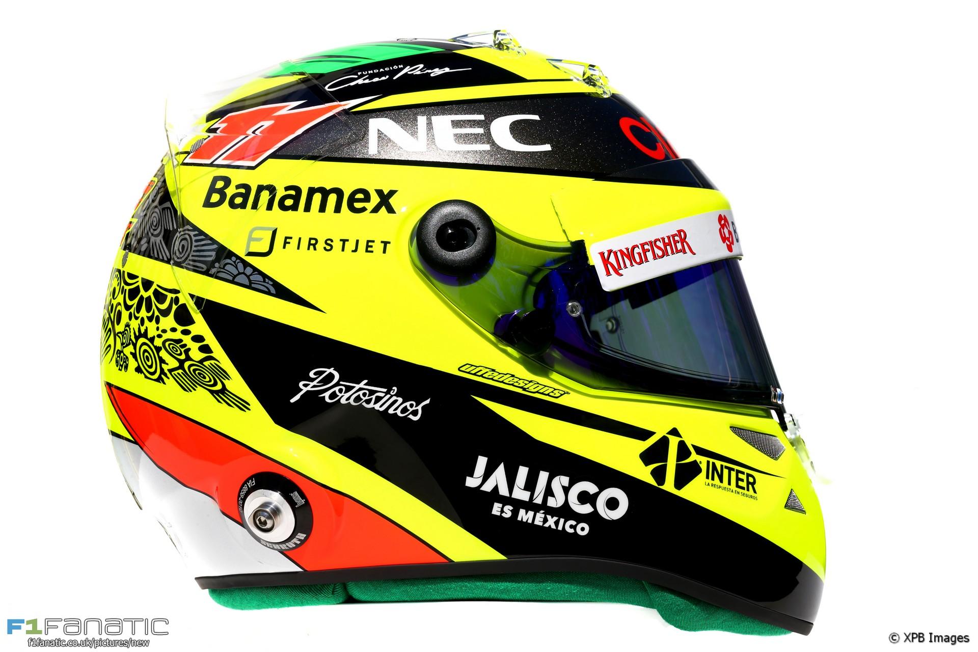 Sergio Perez helmet, 2016
