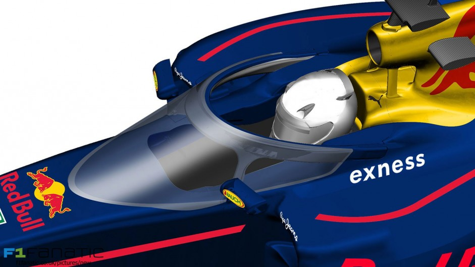 Red Bull reveals its canopy alternative to Halo