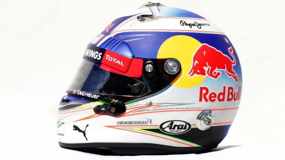 Daniel Ricciardo helmet, Red Bull, 2016