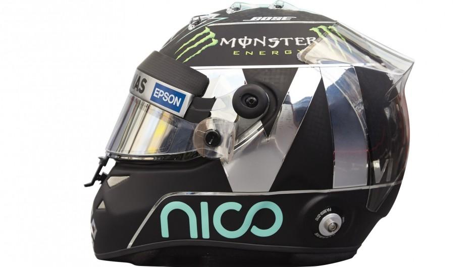 Nico Rosberg helmet, Mercedes, 2016