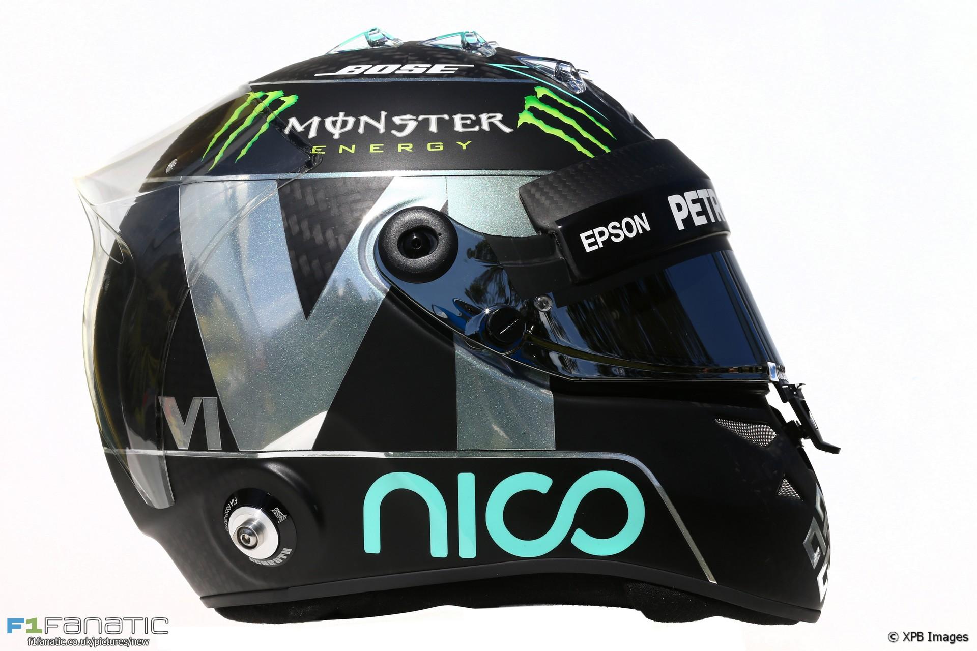 Nico Rosberg helmet, 2016
