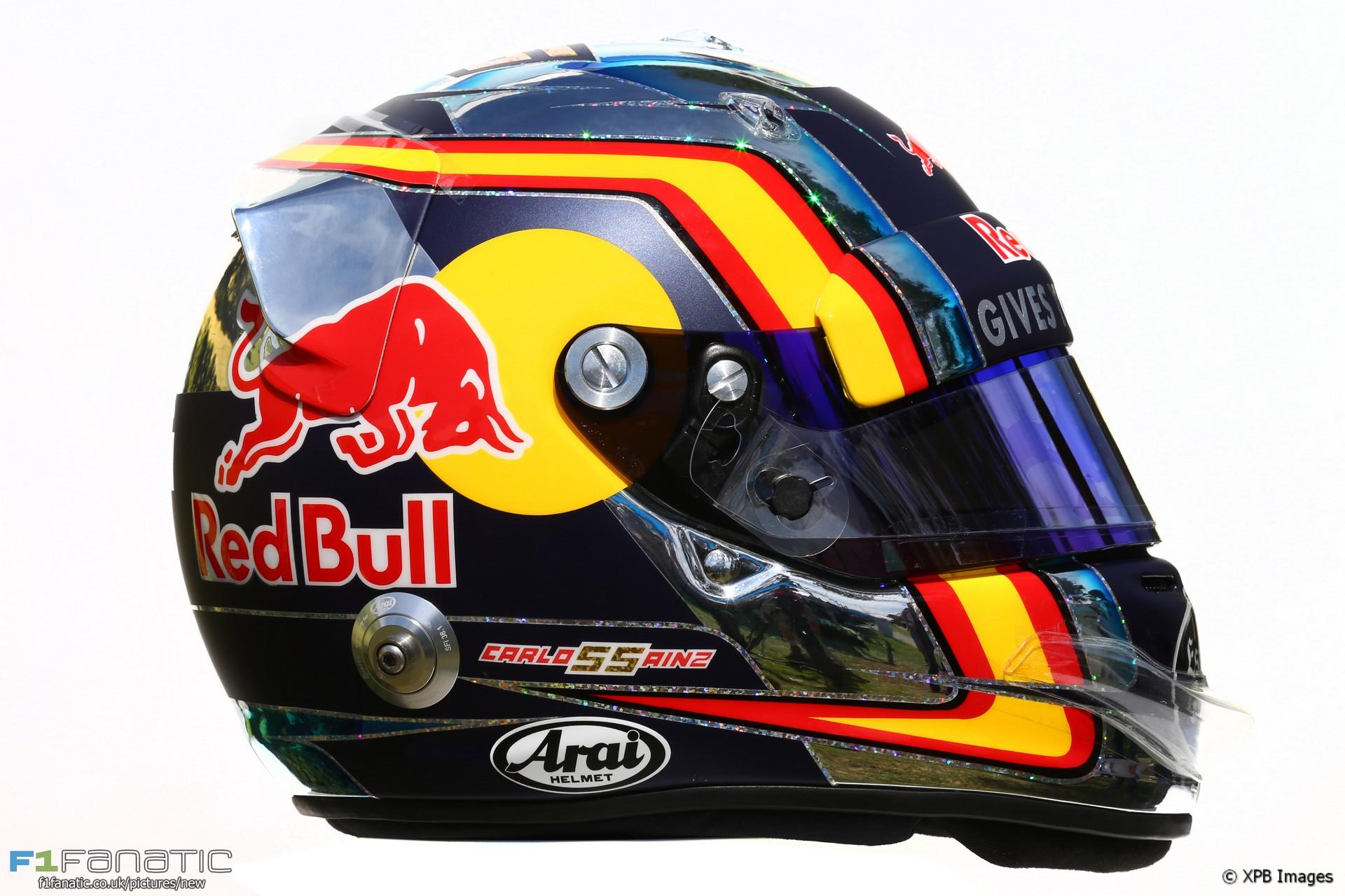 Carlos Sainz Jnr helmet, 2016