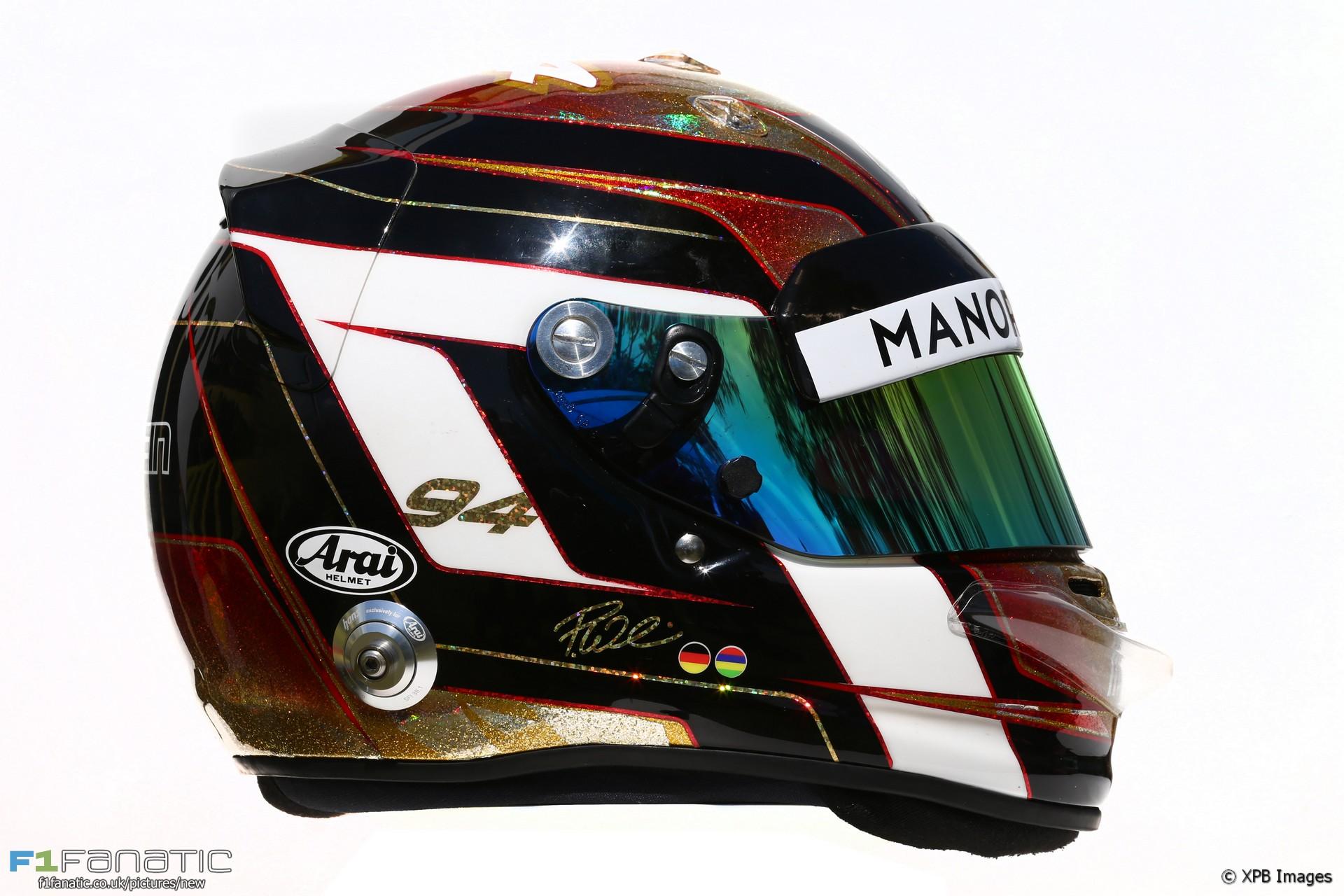 Pascal Wehrlein helmet, 2016