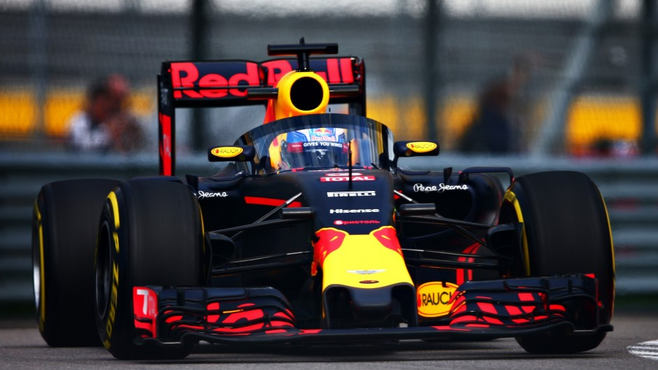 Aeroscreen makes its track debut on Ricciardo's Red Bull
