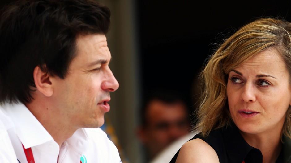 Toto Wolff, Susie Wolff, Bahrain International Circuit, 2016