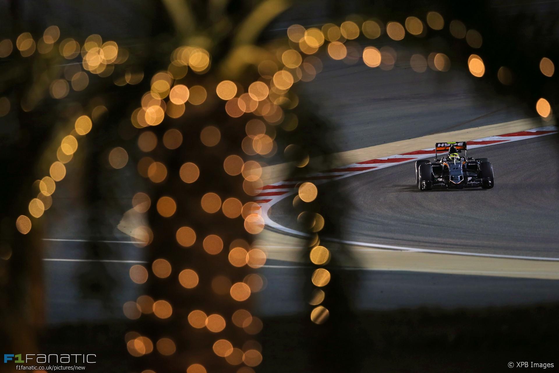 Sergio Perez, Force India, Bahrain International Circuit, 2016