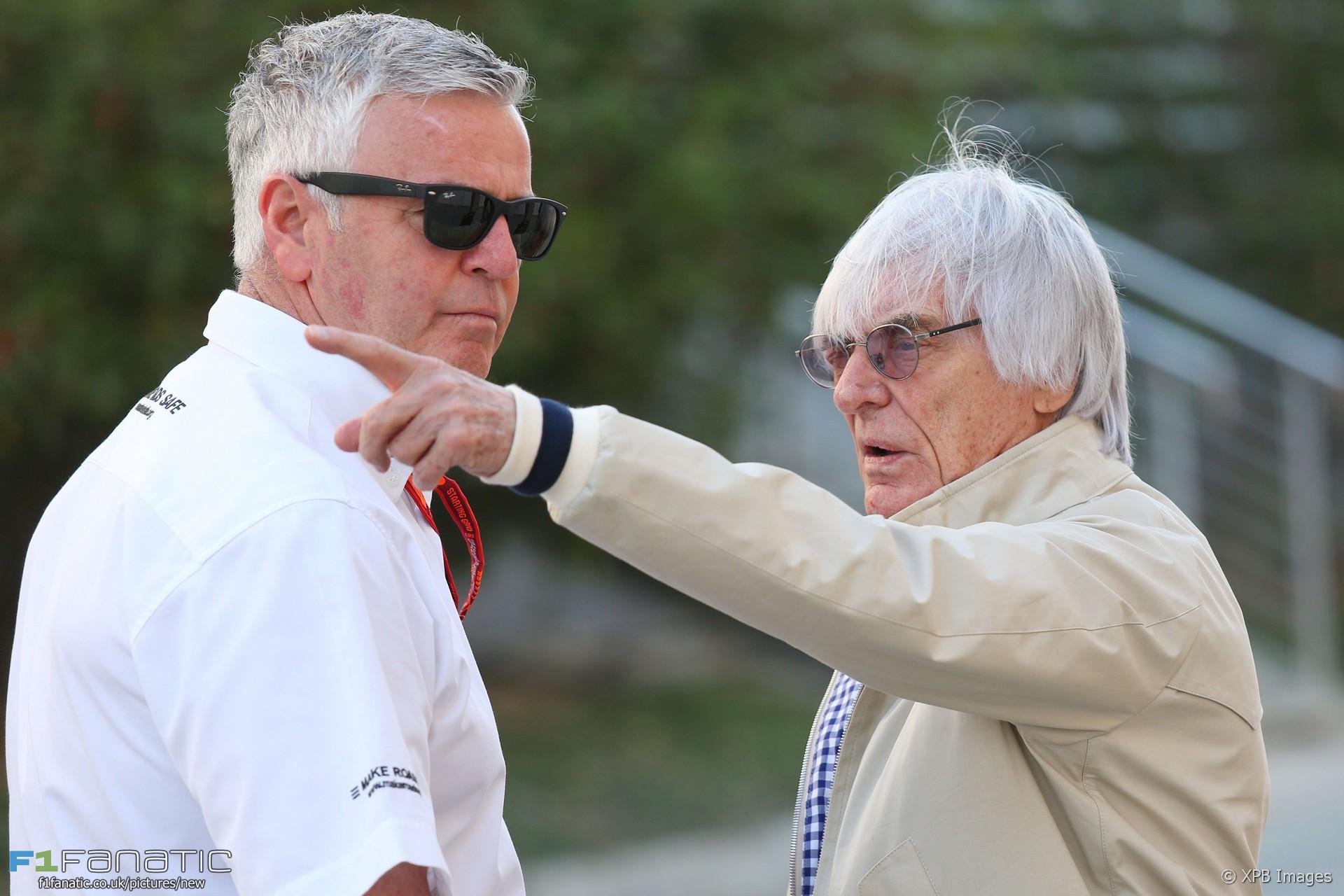 Derek Warwick, Bernie Ecclestone, Bahrain International Circuit, 2016