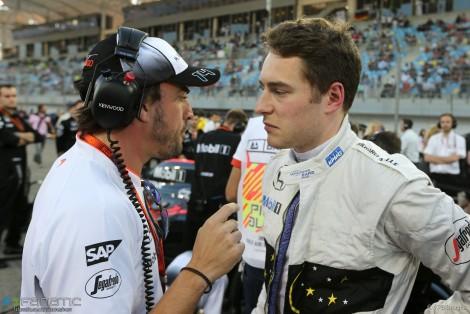Fernando Alonso, Stoffel Vandoorne, McLaren, Bahrain International Circuit, 2016