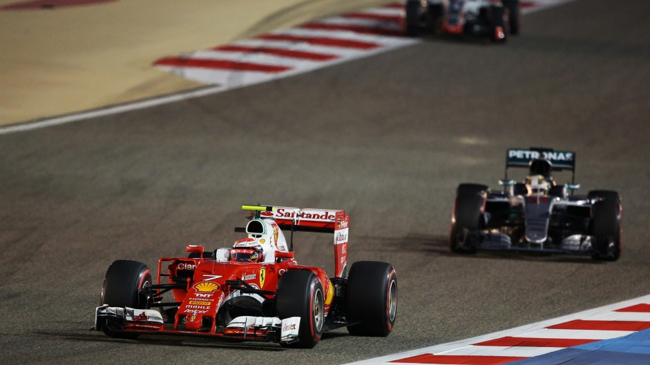 Kimi Raikkonen, Ferrari, Bahrain International Circuit, 2016