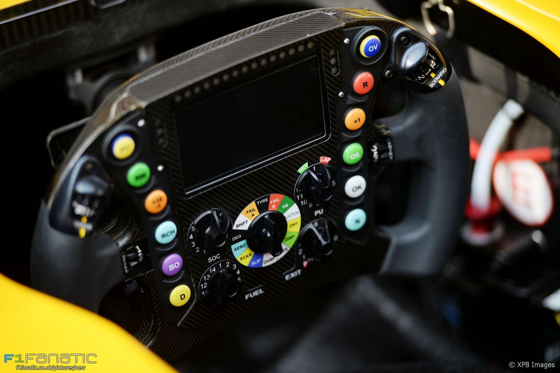 Renault Rs16 Steering Wheel Shanghai International Circuit 2016