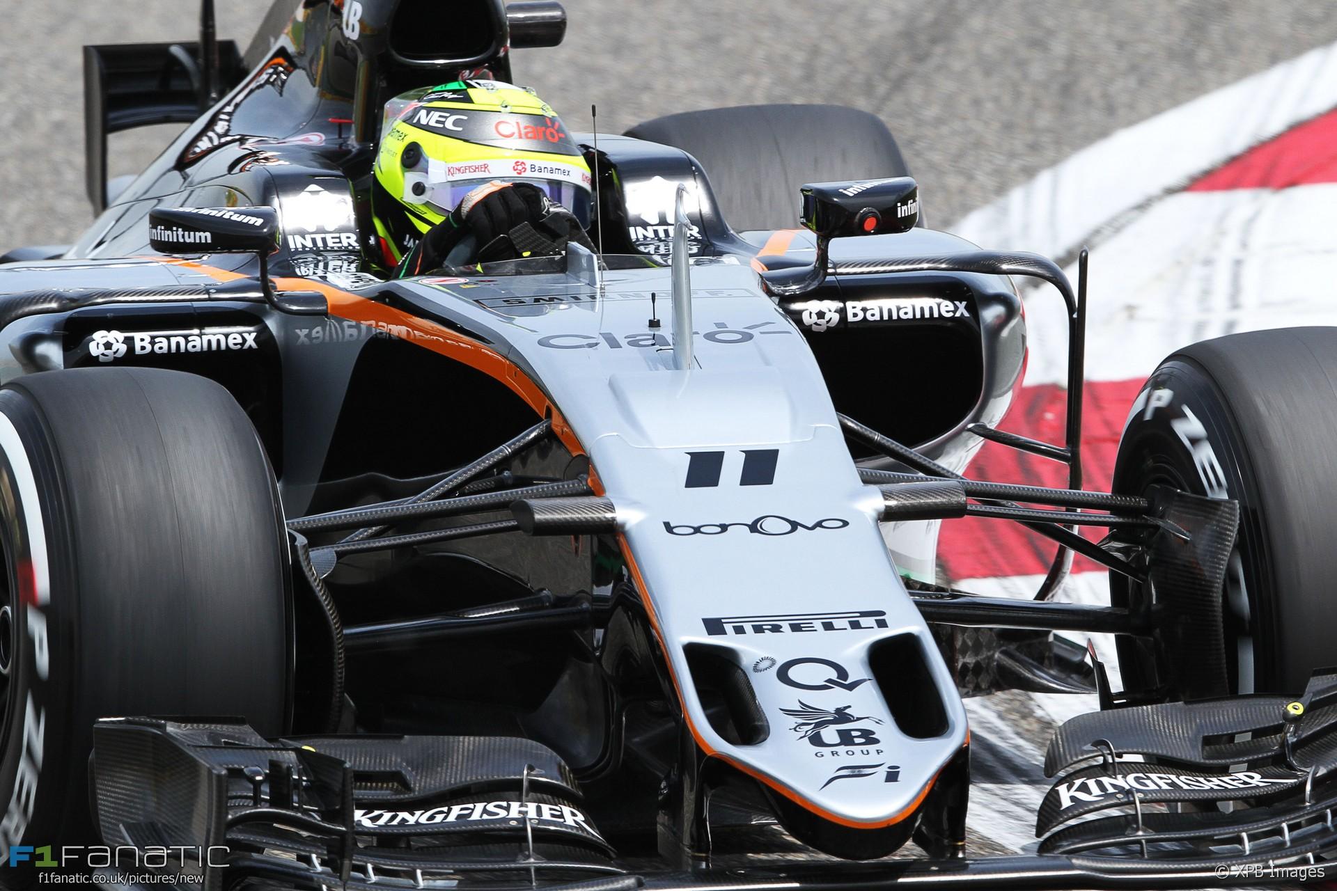 Sergio Perez, Force India, Shanghai International Circuit, 2016