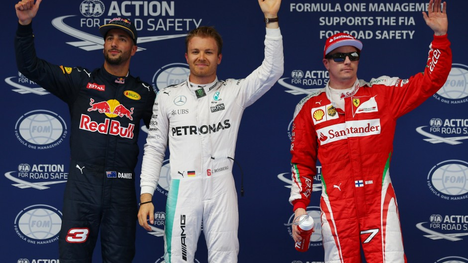 Rosberg on pole, Hamilton starts last in China