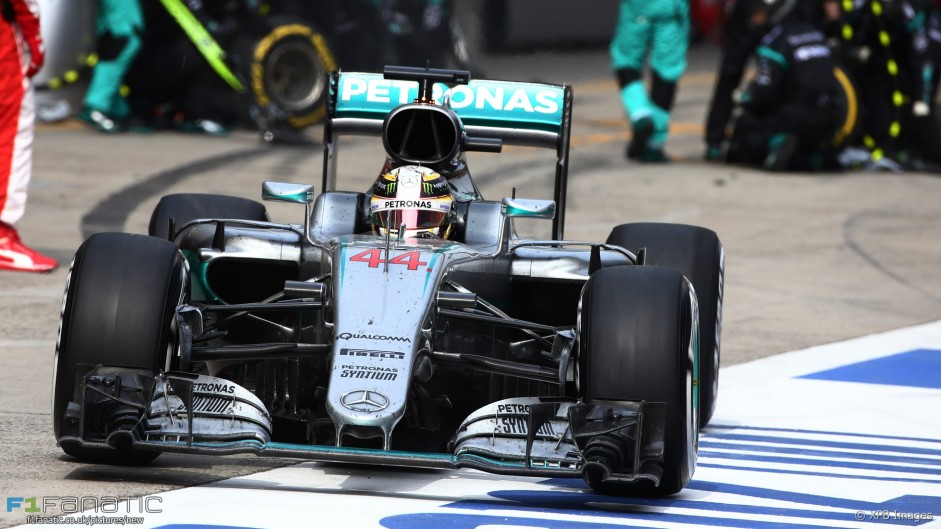 Cut tyre compromised Hamilton's strategy