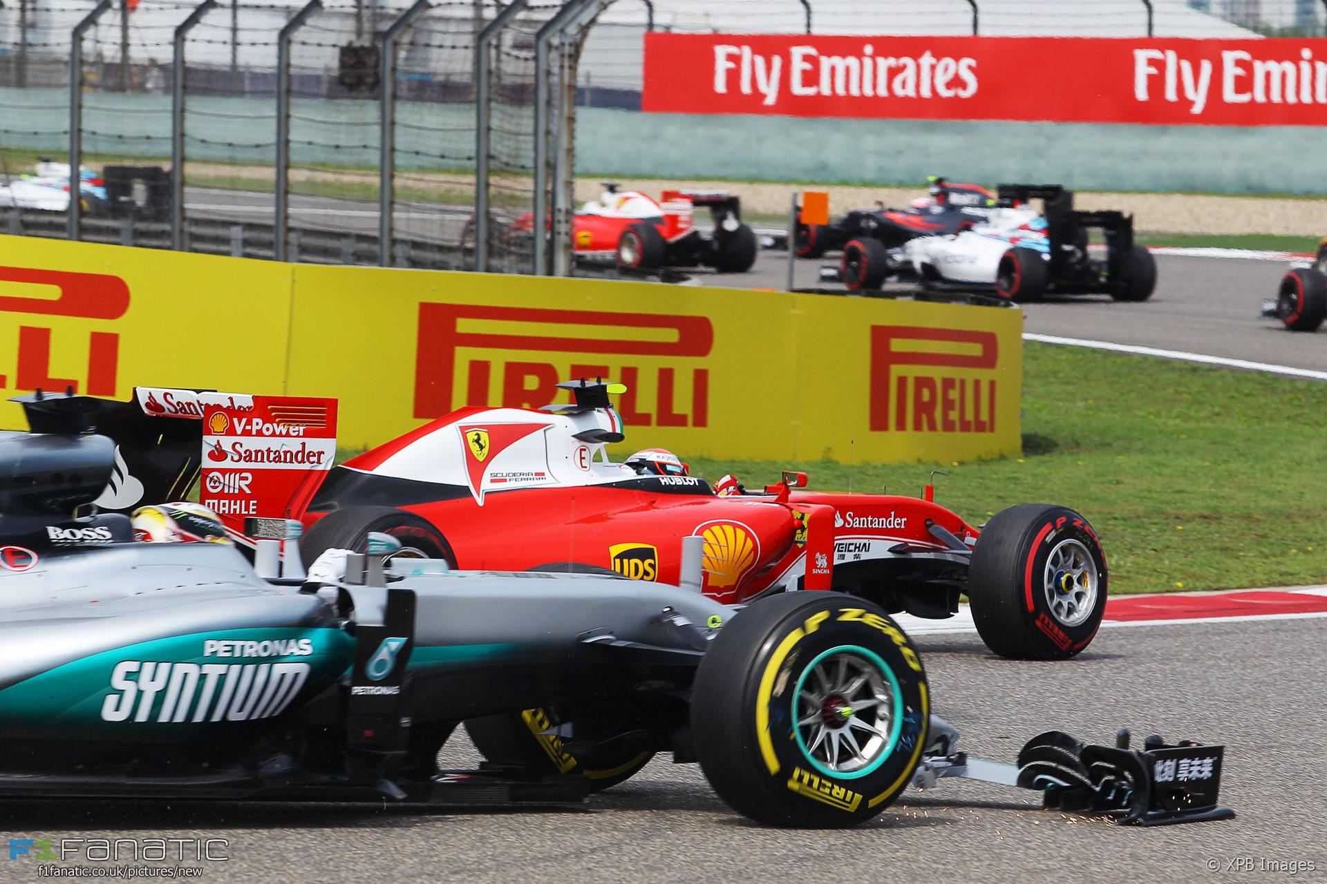 Lewis Hamilton, Kimi Raikkonen, Shanghai International Circuit, 2016