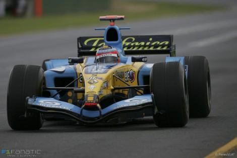 Fernando Alonso, Renault, Melbourne, 2005