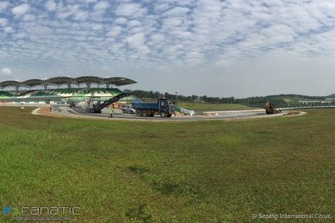 Turn two resurfacing, Sepang International Circuit, 2016