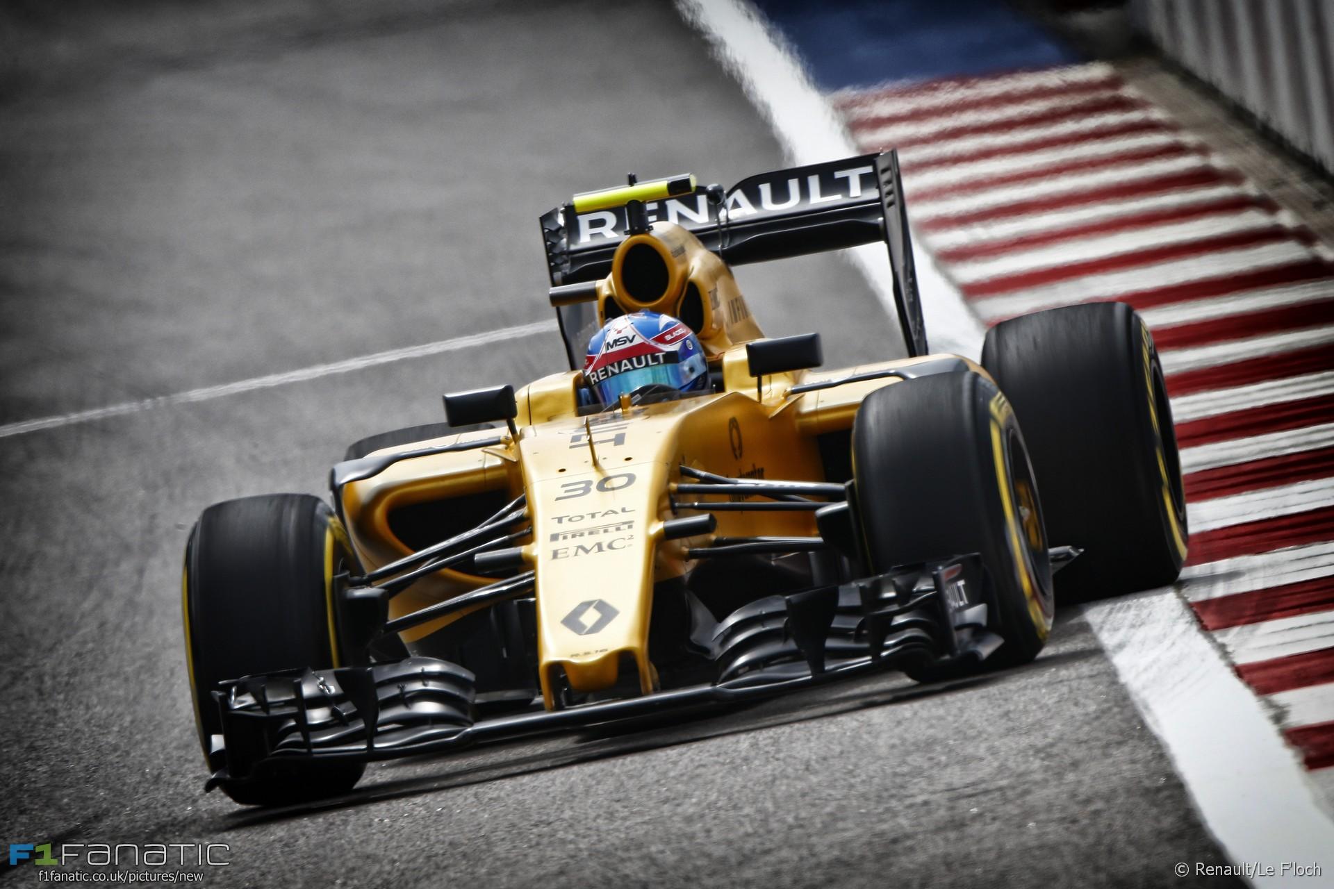 Jolyon Palmer, Renault, Sochi Autodrom, 2016