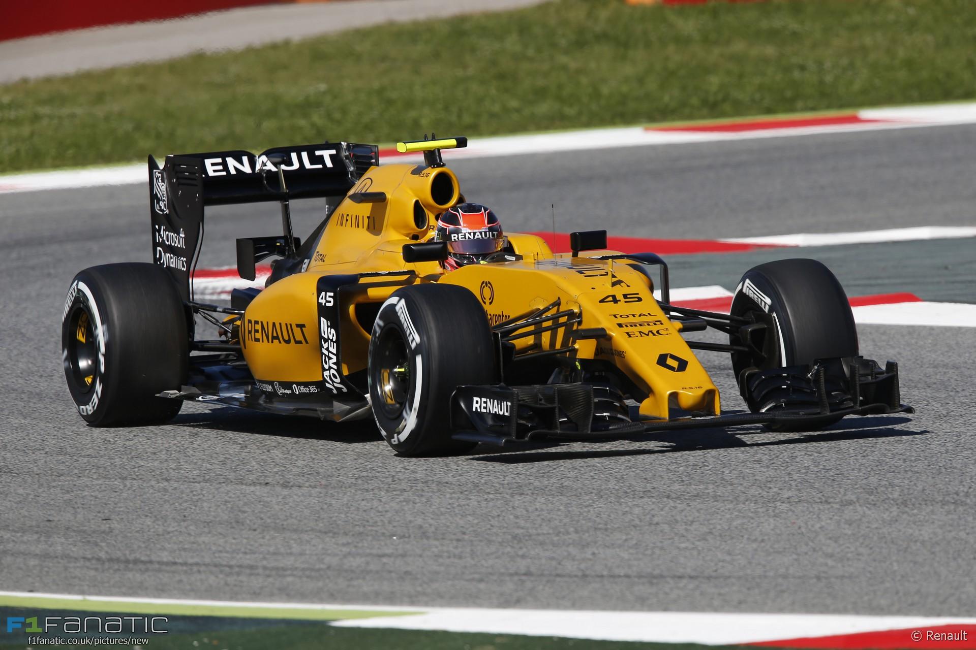 Esteban Ocon, Renault, Circuit de Catalunya, 2016