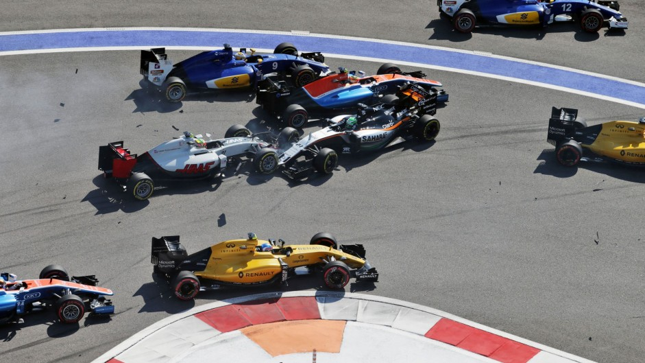 Button wants changes at turn two after crash